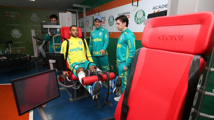 Parceria entre Palmeiras e Kineo System trouxe novos aparelhos para a Academia de Futebol do Verdão. (Divulgação)