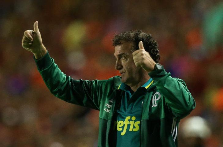 Cuca comemorou atuação do Verdão em Recife-PE nesta segunda-feira (04). (Cesar Greco/Ag.Palmeiras/Divulgação)