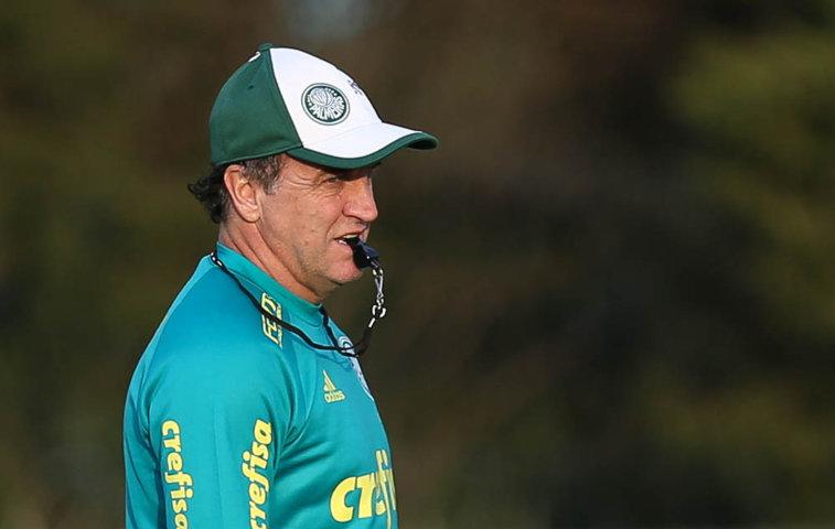 Após o treino, o comandante alviverde divulgou a lista de atletas relacionados para enfrentar o Santos. (Cesar Greco/Ag.Palmeiras/Divulgação)