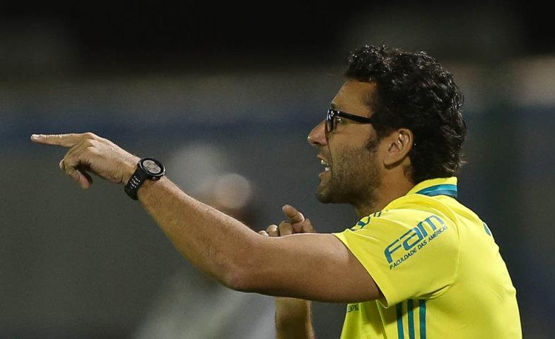 ' Temos de nos recuperar nessas duas próximas rodadas', disse Alberto Valentim após o revés. (Cesar Greco/Ag Palmeiras/Divulgação)