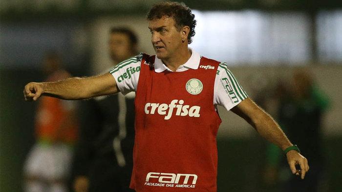 Técnico Cuca aprovou desempenho da equipe diante da Chapecoense. (Cesar Greco/Ag.Palmeiras/Divulgação)