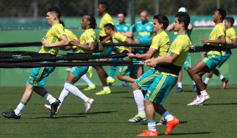 O treino da manhã desta quarta (17) durou duas horas. (Cesar Greco/Ag Palmeiras/Divulgação)