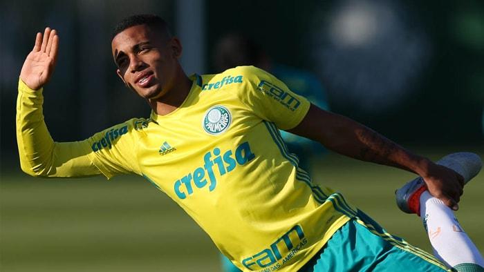Gabriel Jesus voltou a treinar após conquista olímpica com a Seleção. (Cesar Greco/Ag.Palmeiras/Divulgação)