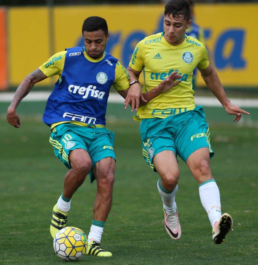 Reserva treinaram com bola nesta quinta (08) na Academia de Futebol. (Cesar Greco/Ag.Palmeiras/Divulgação)