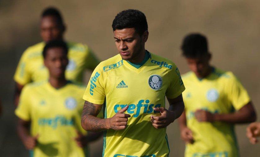 O Palmeiras treina nesta terça (27) e viaja para Porto Alegre-RS em seguida. (Cesar Greco/Ag.Palmeiras/Divulgação)