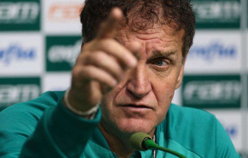 Cuca concedeu entrevista coletiva na Academia de Futebol nesta sexta-feira (28). (Cesar Greco/Ag.Palmeiras/Divulgação)