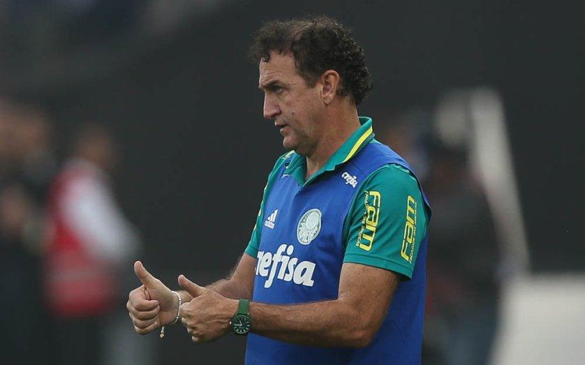 'A estratégia foi bem executada pelos jogadores', elogiou o técnico Cuca. (Cesar Greco/Ag Palmeiras/Divulgação)