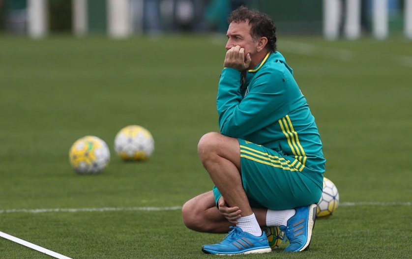 O técnico Cuca relacionou 23 jogadores para partida de ida das quartas de final da Copa do Brasil. (Cesar Greco/Ag.Palmeiras/Divulgação)