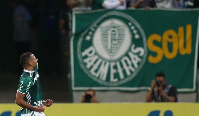 Gabriel Jesus chegou 27 gols em 74 partidas pelo Verdão. (Cesar Greco/Ag.Palmeiras/Divulgação)