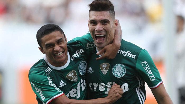 Jogadores destacaram a importância de uma vitória na casa do maior rival. (Cesar Greco/Ag Palmeiras/Divulgação)