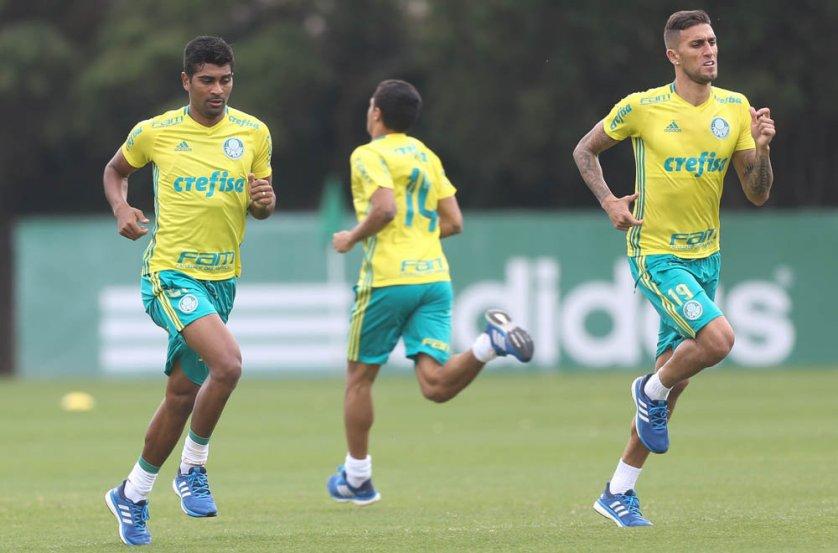 Após domingo de folga, elenco palmeirense voltou aos trabalhos nesta segunda. (Cesar Greco/Ag.Palmeiras/Divulgação)