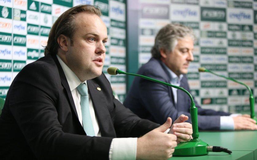 Paulo Nobre explicou processo de arbitragem e celebrou resolução: 'Grande vitória'. (Cesar Greco/Ag Palmeiras/Divulgação)