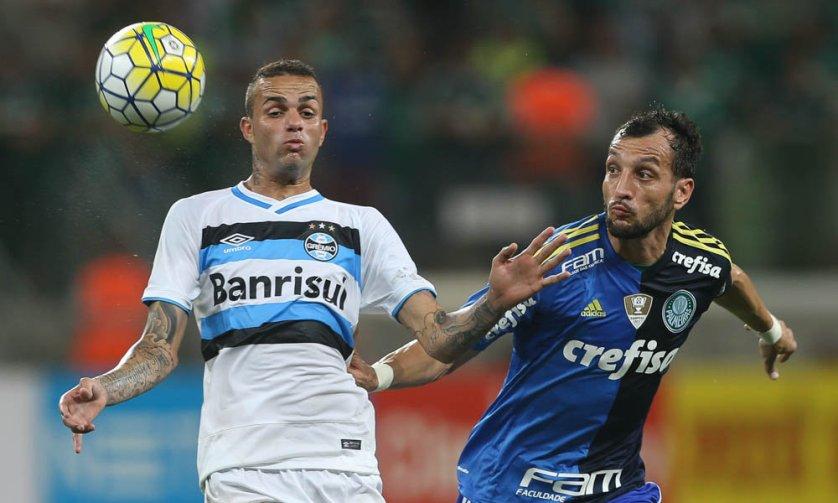 Experiente, Edu Dracena ganhou oportunidade no time titular diante do Grêmio. (Cesar Greco/Ag.Palmeiras/Divulgação)
