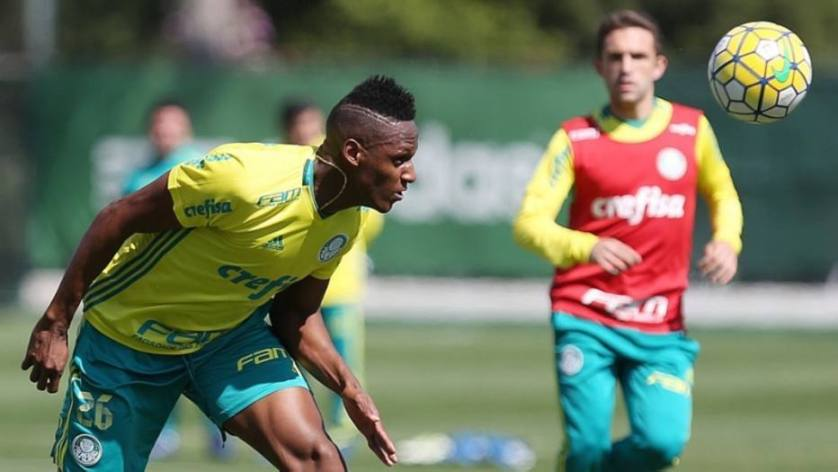 Poupado na Copa do Brasil, Mina deve voltar no domingo. (Cesar Greco/Ag.Palmeiras/Divulgação)