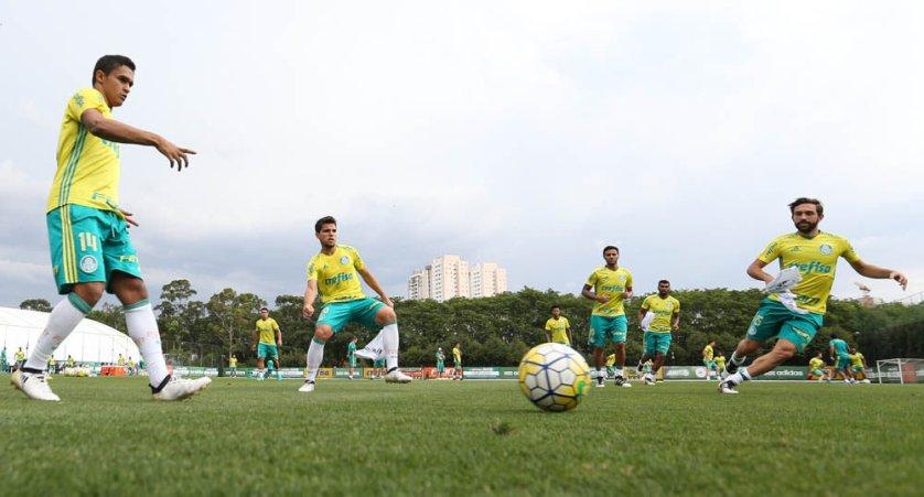 O Palmeiras realizou na tarde desta quinta-feira (10), na Academia de Futebol. (Cesar Greco/Ag.Palmeiras/Divulgação)