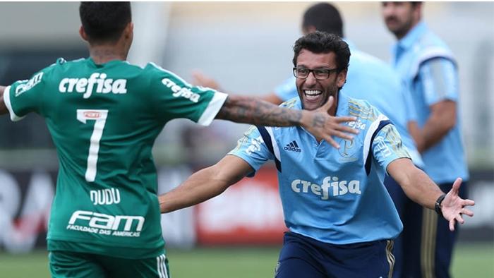Auxiliar técnico no Palmeiras desde 2014, Alberto Valentim retornou ao clube. (Cesar Greco/Ag Palmeiras/Divulgação)