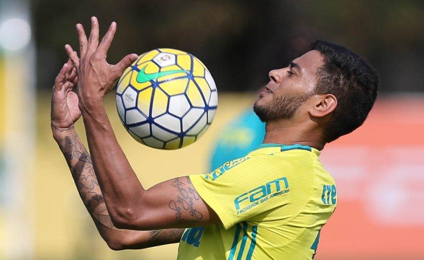 O meia Cleiton Xavier esteve no time esboçado por Cuca para enfrentar o Vitória. (Cesar Greco/Ag Palmeiras/Divulgação)
