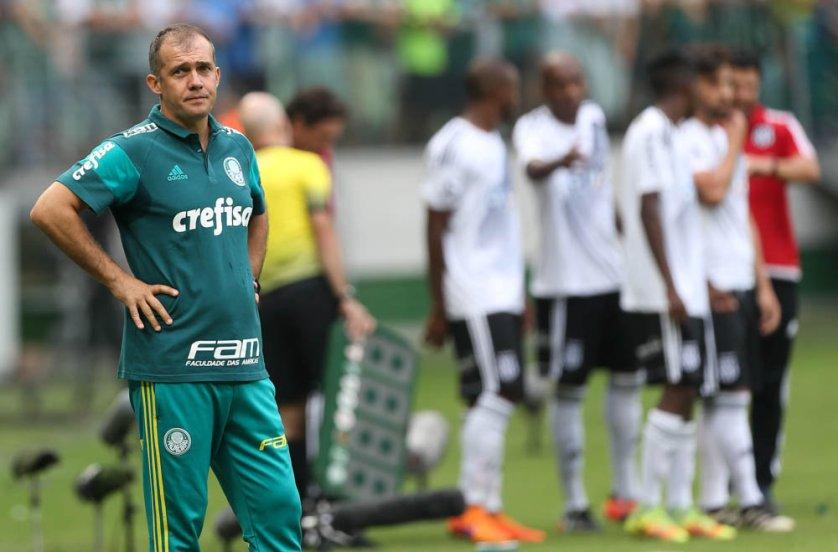 Eduardo Baptista aproveitou duelo com Ponte Preta para fazer testes na equipe alviverde. (Cesar Greco/Ag.Palmeiras/Divulgação)
