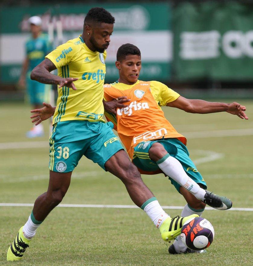 O meia Michel Bastos será apresentado na Academia de Futebol após o treino da tarde. (Cesar Greco/Ag Palmeiras/Divulgação)