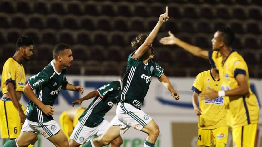 Léo Passos decretou a virada palmeirense na estreia da Copa São Paulo de Futebol Júnior. (Fabio Menotti/Ag.Palmeiras/Divulgação)