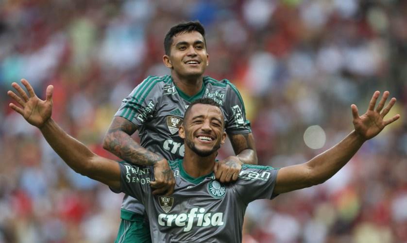 Vitor Hugo e Dudu representarão o Palmeiras no Jogo da Amizade – amistoso entre Brasil e Colômbia. (Cesar Greco/Ag.Palmeiras/Divulgação)