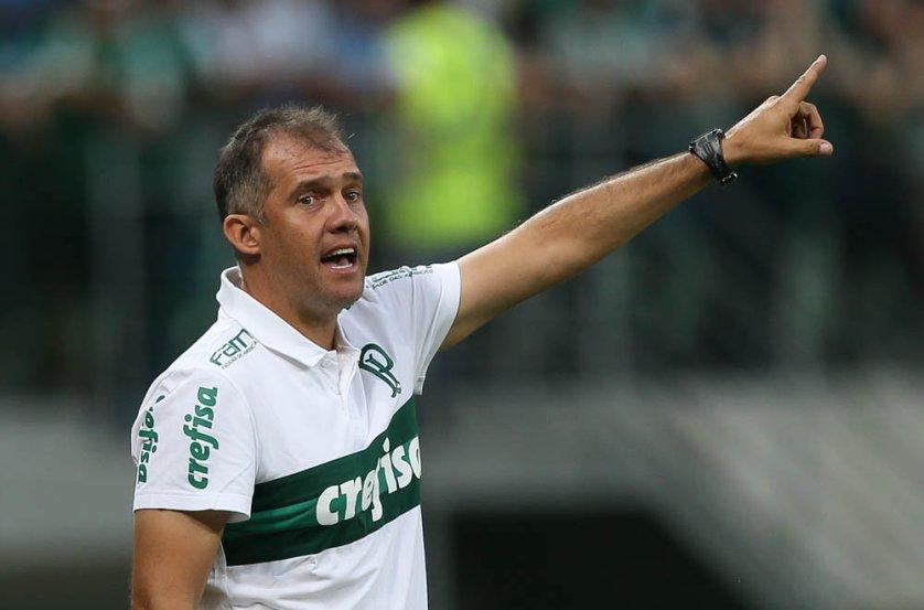Baptista ressaltou o crescimento da equipe ao longo da partida desta quinta (16). (Cesar Greco/Ag Palmeiras/Divulgação)