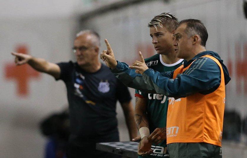 Baptista celebrou a liderança geral do Paulistão. (Cesar Greco/Ag. Palmeiras/Divulgação)