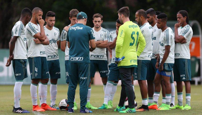 O Palmeiras se reapresentou na tarde desta quinta-feira (23), na Academia de Futebol. (Cesar Greco/Ag. Palmeiras/Divulgação)