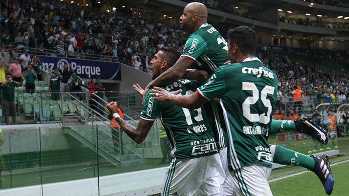 Felipe Melo marcou seu segundo gol na temporada. (Cesar Greco/Ag. Palmeiras/Divulgação)