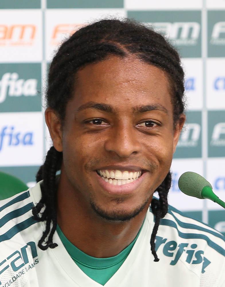 Keno concedeu entrevista coletiva na Academia de Futebol nesta quarta (01). (Cesar Greco/Ag.Palmeiras/Divulgação)