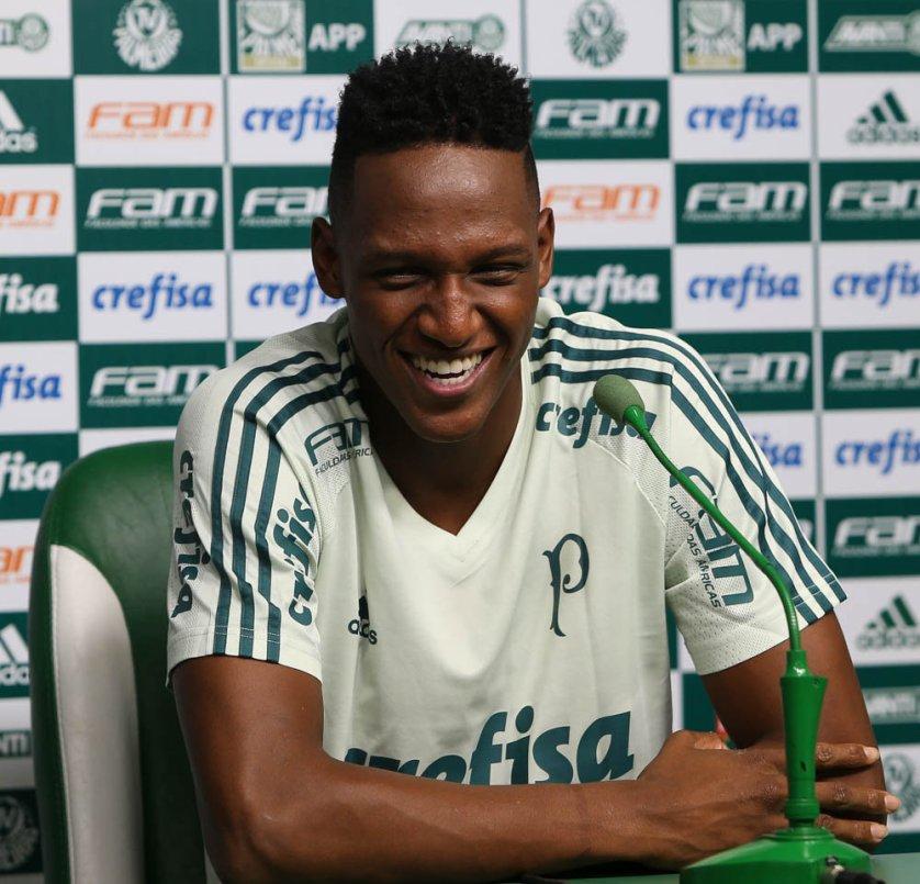 Mina chegou ao Verdão em maio de 2016. (Cesar Greco/Ag. Palmeiras/Divulgação)