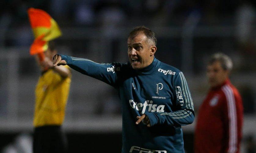 O técnico Eduardo Baptista pediu cautela com o resultado positivo deste fim de semana. (Cesar Greco/Ag. Palmeiras/Divulgação)