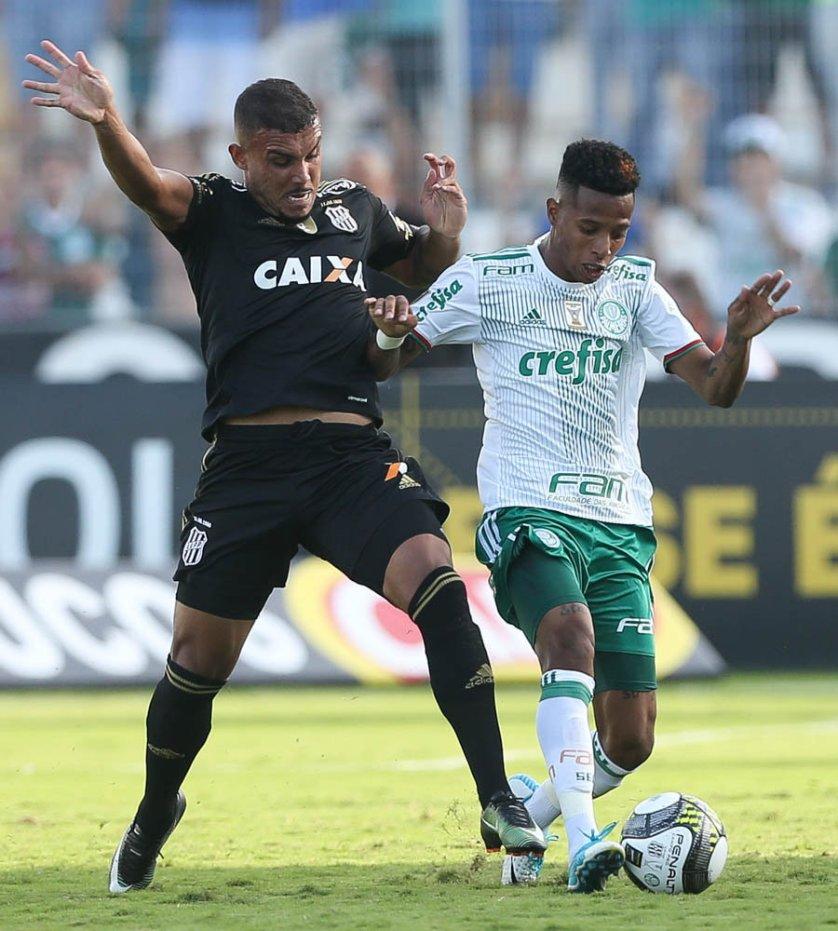 O Verdão foi surpreendido pela Ponte nos minutos iniciais e não conseguiu reverter a situação. (Cesar Greco/Ag Palmeiras/Divulgação)