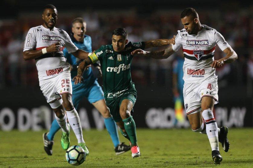 Após revés, Dudu lamentou tropeço, mas já pensa na decisão com o Internacional. (Cesar Greco/Ag. Palmeiras/Divulgação)