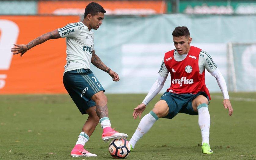Palmeiras fez treino tático antes de viagem à Bolívia. (Cesar Greco/Ag Palmeiras/Divulgação)