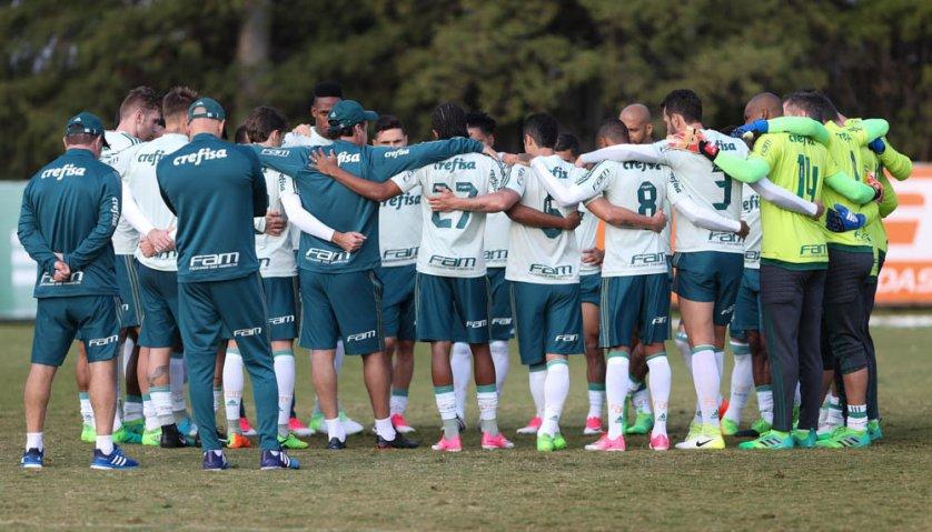 Com recreativo e treino de finalizações, o Palmeiras encerrou a preparação para enfrentar o Internacional, pela Copa do Brasil. (Rafael/Mídia Palmeirense)