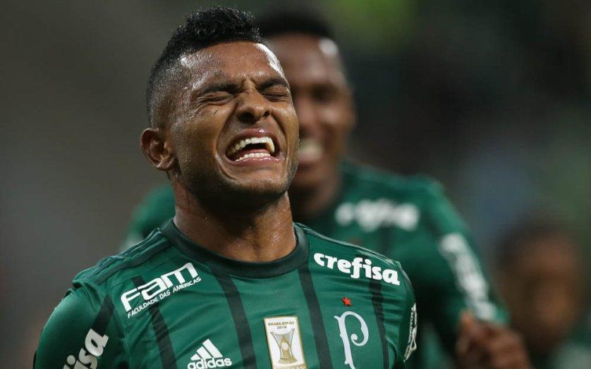 Borja voltou a marcar contra o Atlético Goianiense. (Cesar Greco/Ag. Palmeiras/Divulgação)