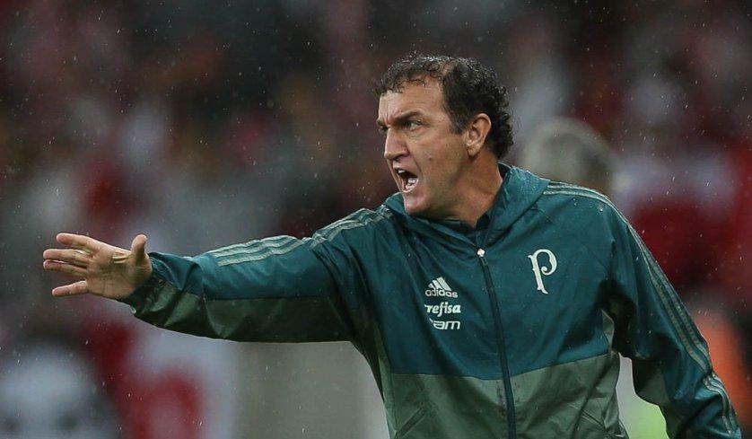 O treinador colocou Thiago Santos na segunda etapa, no lugar de Edu Dracena. (Cesar Greco/Ag. Palmeiras/Divulgação)