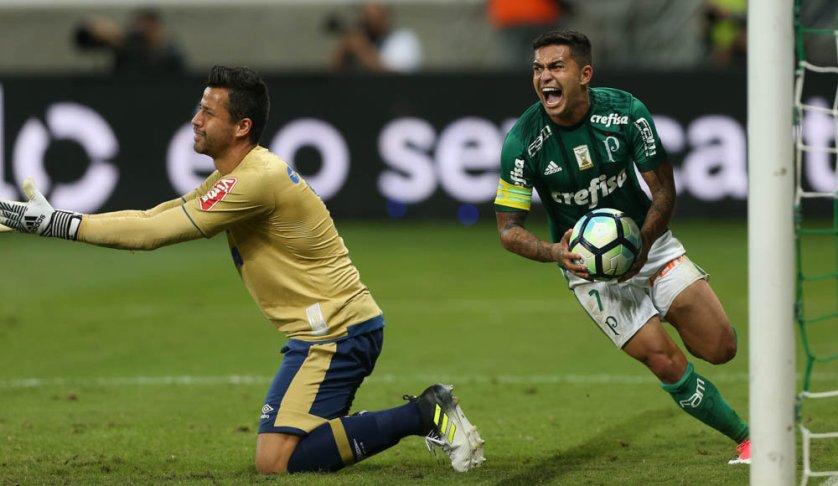 Dudu fez 137 jogos e 32 gols com a camisa do Palmeiras. (Cesar Greco/Ag Palmeiras/Divulgação)