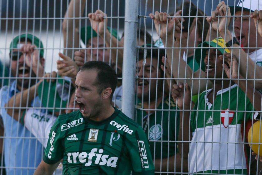 Com os dois gols na partida, o venezuelano Guerra chegou a seis tentos em 23 partidas pelo Verdão. (Cesar Greco/Ag Palmeiras/Divulgação)