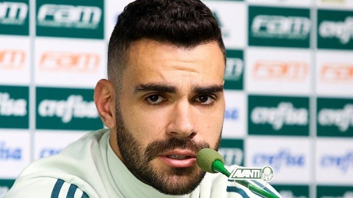 Bruno Henrique falou com a imprensa na tarde desta quinta-feira (27). (Cesar Greco/Ag Palmeiras/Divulgação)