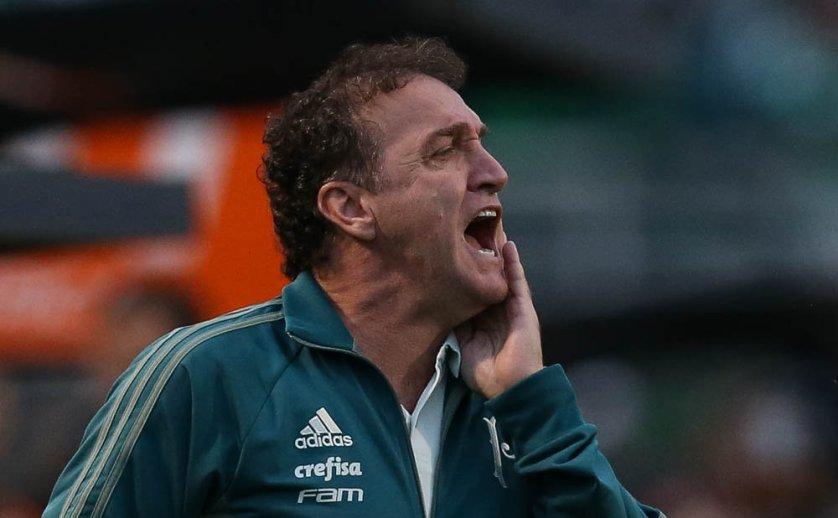 O treinador concedeu entrevista coletiva após a vitória sobre o Grêmio. (Cesar Greco/Ag. Palmeiras/Divulgação)