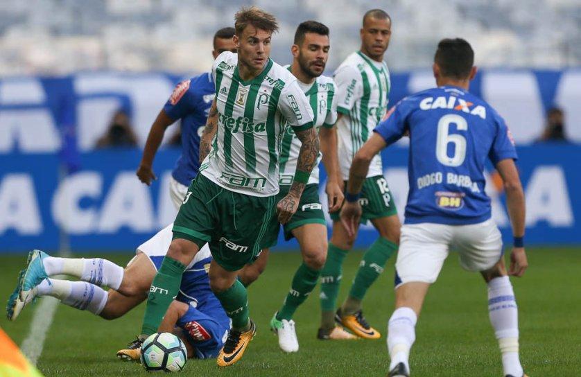 Róger Guedes deu assistência para o gol do Palmeiras. (Cesar Greco/Ag Palmeiras/Divulgação)