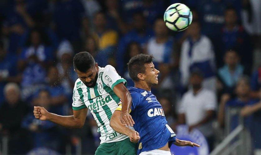 Thiago Santos iniciou entre os titulares. (Cesar Greco/Ag. Palmeiras/Divulgação)