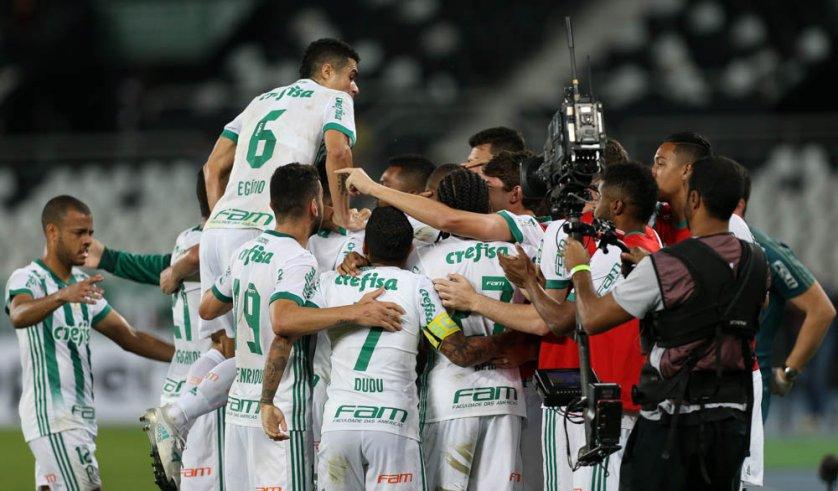 O Palmeiras superou o Botafogo pelo placar de 2 a 1 na noite desta quarta-feira (02), no Estádio Olímpico Nilton Santos (Engenhão). (Cesar Greco/Ag. Palmeiras/Divulgação)