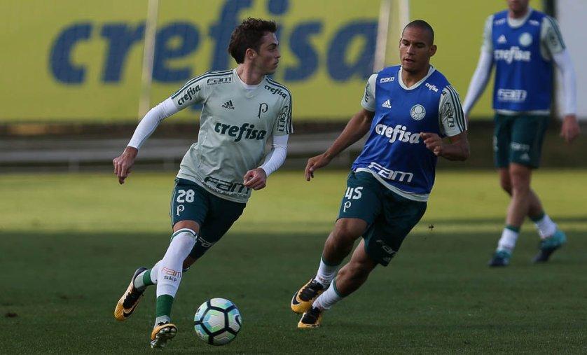 Elenco palmeirense encerrou preparação para enfrentar Atlético-PR. (Cesar Greco/Ag. Palmeiras/Divulgação)