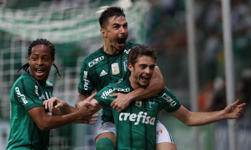 Os gols do Palmeiras sobre o São Paulo foram marcados por Willian (duas vezes), Keno e Hyoran. (Cesar Greco/Ag. Palmeiras/Divulgação)