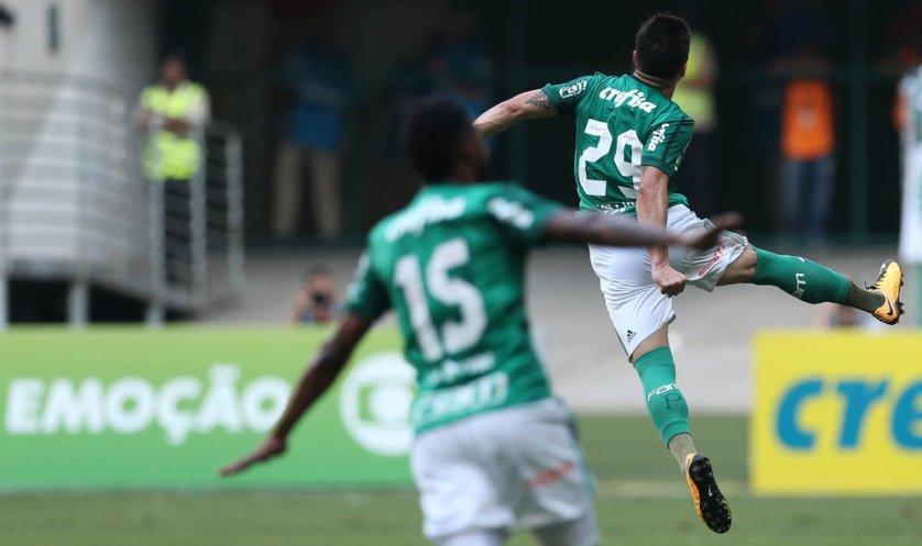 O atacante Willian fez dois gols na vitória do Palmeiras sobre o São Paulo. (Cesar Greco/Ag. Palmeiras/Divulgação)