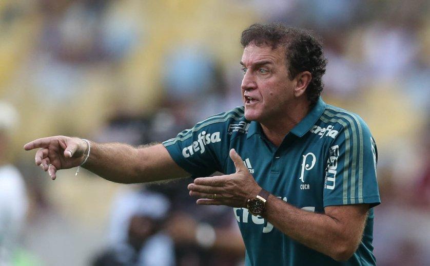 Para o técnico Cuca, sua equipe controlou bem o adversário. (Cesar Greco/Ag Palmeira/Divulgação)