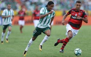 Com três assistências, Keno foi o grande destaca da vitória alviverde em Goiânia. (Cesar Greco/Ag. Palmeiras/Divulgação)